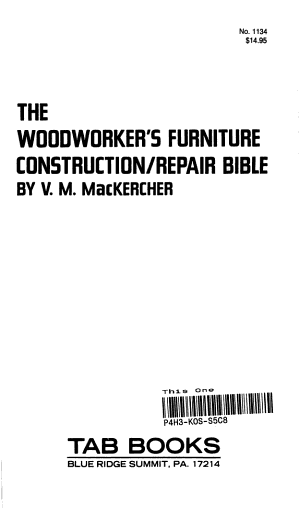 The Woodworker s Furniture Construction repair Bible