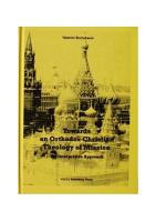 Towards an Orthodox Christian Theology of Mission PDF