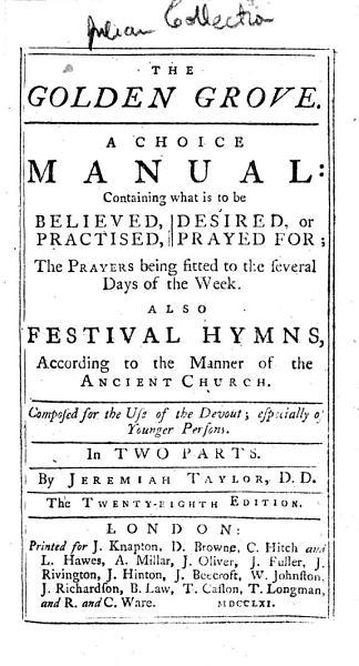 The Golden Grove     Also Festival Hymns     The Twenty eighth Edition PDF