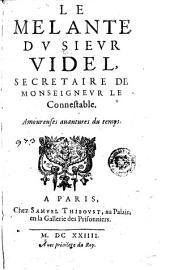 Le Melante du sieur Videl, secretaire de monseigneur le connestable. Amoureuse auantures du temps: Page973