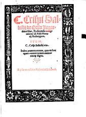 C. Crispi Sallustij de Bello Jugurthino liber: Ex secunda recognitione ad Aldi Manucij Archetypon. Item. C. Crispi Sallustij vita. Index praeterea eorum, quae ex hoc opere veniunt notatu memoratu[que] digna