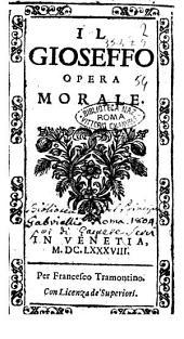 Il Gioseffo opera morale