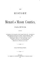 The History of Menard and Mason Counties  Illinois PDF