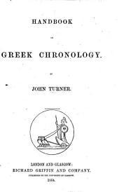 Handbook of Greek Chronology