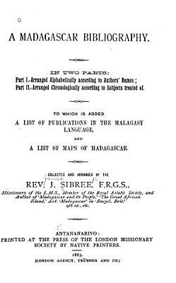 A Madagascar Bibliography PDF