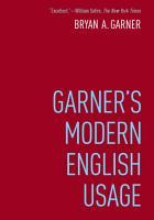Garner s Modern English Usage PDF