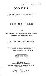 Notes, explanatory and practical by Alb. Barnes