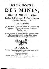 De la fonte, des mines, des fonderies,&c: Volume1