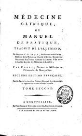 Médecine clinique ou manuel de pratique: Volume2