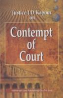 Law of Contempt of Court PDF