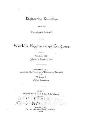 Proceedings     Papers  Reports  Discussions  Etc   Printed in the Journal of Engineering Education PDF