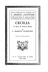 The complete works of F. Marion Crawford: Volume 30
