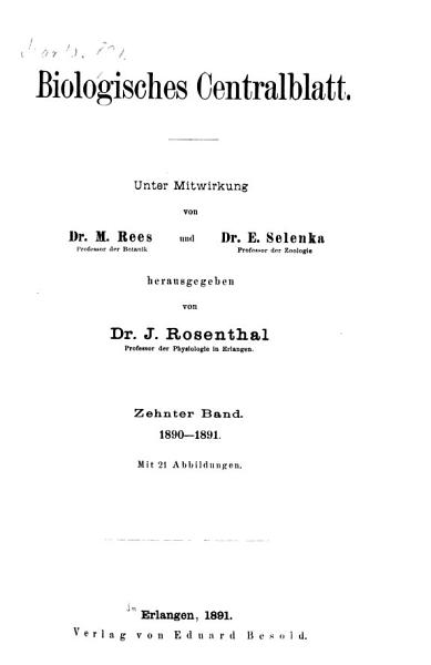 Download Biologisches Zentralblatt Book