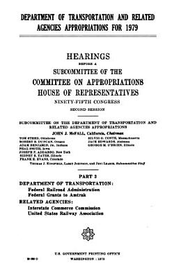 Department of Transportation and Related Agencies Appropriations for 1979