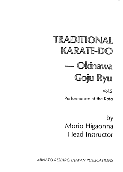Traditional Karate do  Performances of the kata PDF