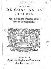 De constantia libri duo