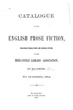 Catalogue of the English Prose Fiction PDF