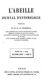 L'Abeille: journal d'entomologie, Volume 12