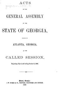 Acts and Resolutions of the General Assembly of the State of Georgia PDF