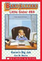 Karen s Big Job  Baby Sitters Little Sister  84  PDF
