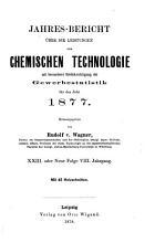 Jahresbericht   ber die Leistungen der chemischen Technologie PDF