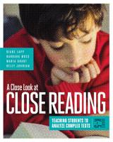 A Close Look at Close Reading PDF
