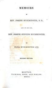 Memoirs of Rev. J. Buckminster ... and of his son Rev. J. S. Buckminster. Second edition