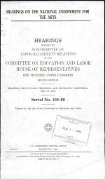 Hearings on the National Endowment for the Arts