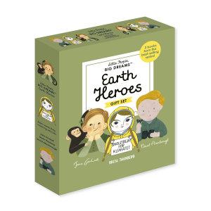 Little People  Big Dreams  Earth Heroes  3 Books from the Best Selling Series  Jane Goodall   Greta Thunberg   David Attenborough