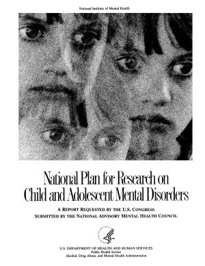 National Plan for Research on Child and Adolescent Mental Disorders