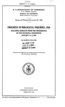 Progress in Biological Inquiries  1928 PDF