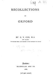 Recollections of Oxford