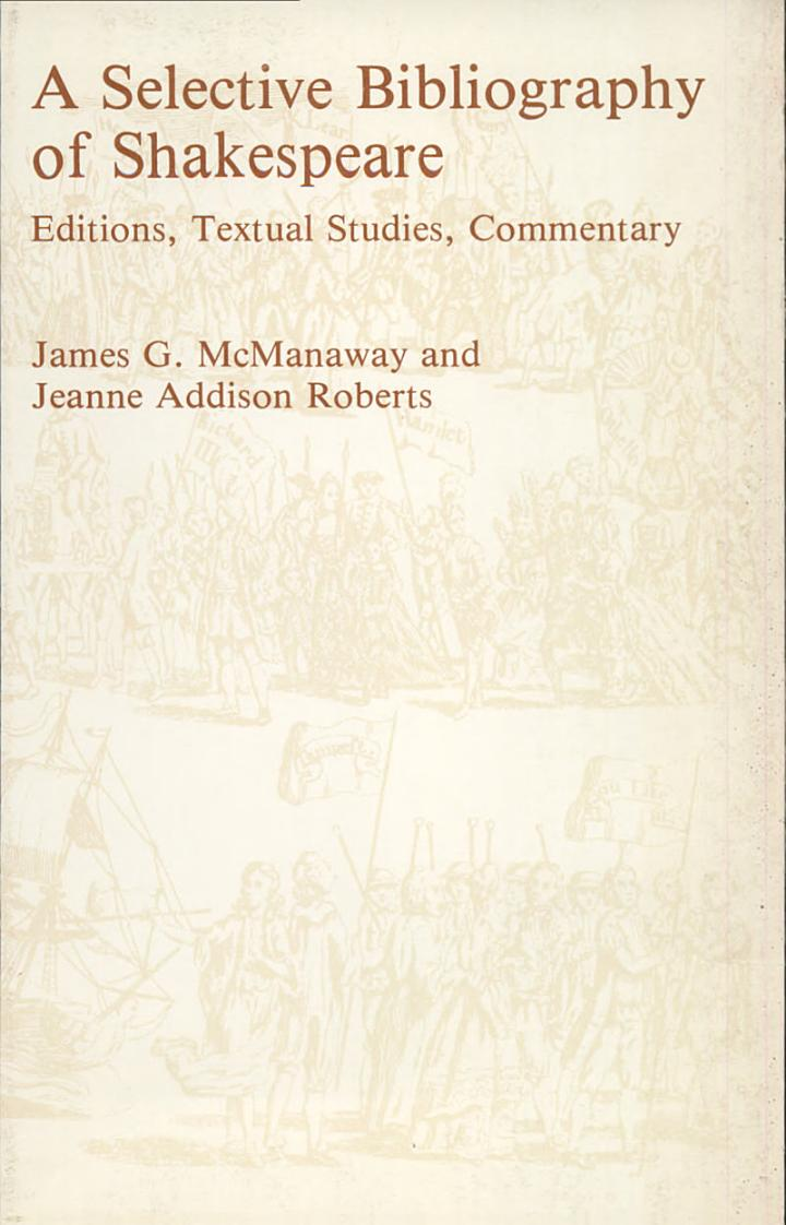 A Selective Bibliography of Shakespeare