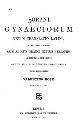 Sorani Gynaeciorum vetus translatio latina