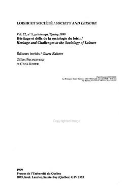 Loisir Et Soci  t   PDF