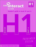 SMP Interact for GCSE Teacher s Guide to Book H1 Part A Pathfinder Edition PDF