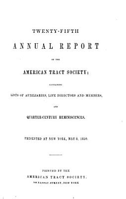 Annual Report of the American Tract Society