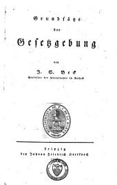 Grundsätze der Gesetzgebung