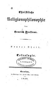 Christliche Religionsphilosophie: Band 1