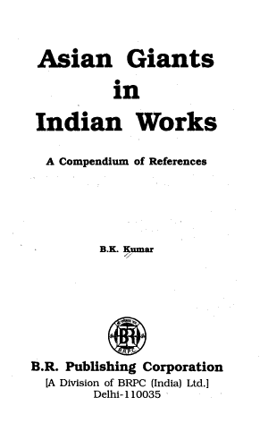 Asian Giants in Indian Works PDF