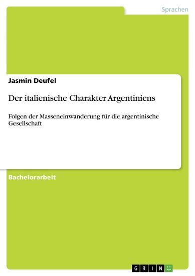 Der italienische Charakter Argentiniens PDF