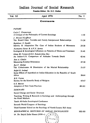 Indian Journal of Social Research PDF