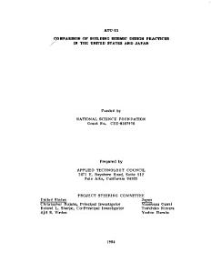 Comparison of Building Seismic Design Practices in the United States and Japan PDF