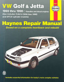 VW Golf   Jetta Automotive Repair Manual