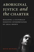 Aboriginal Justice and the Charter PDF