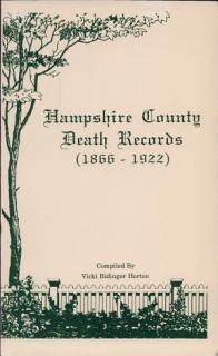 Hampshire County Death Records 1866 1922 Book