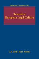 Towards a European Legal Culture