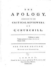 The Apology: Addressed to the Critical Reviewers