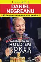 M  s Sabidur  a del Hold em Poker Para Todos PDF