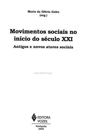 Movimentos sociais no in  cio do s  culo XXI PDF